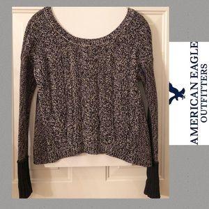 American🦅 Eagle Black & White Sweater Women XS